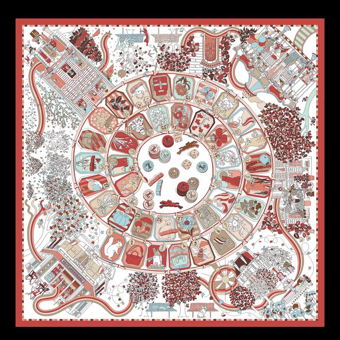 Fall-Winter 2021 Collection Silk scarf, Marmelade