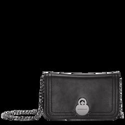 Geldbörse mit Kette, 001 Schwarz, hi-res