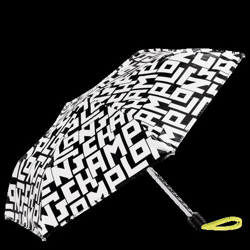 Retractable umbrella, Black/White - View 1 of 1 -