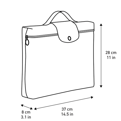 Briefcase, Black, hi-res - View 2 of 2
