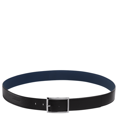 Men's belt, Black/Baltic blue, hi-res - View 1 of 1