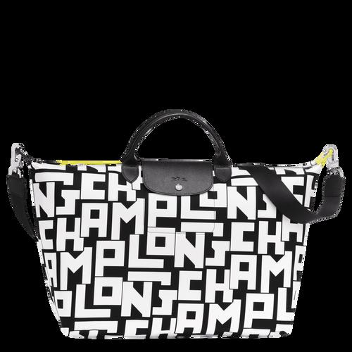 Travel bag L, 067 Black/White, hi-res