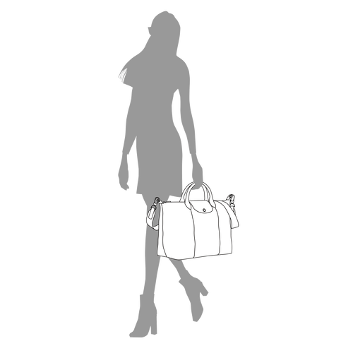 Top handle bag L, Navy - View 4 of  5 -