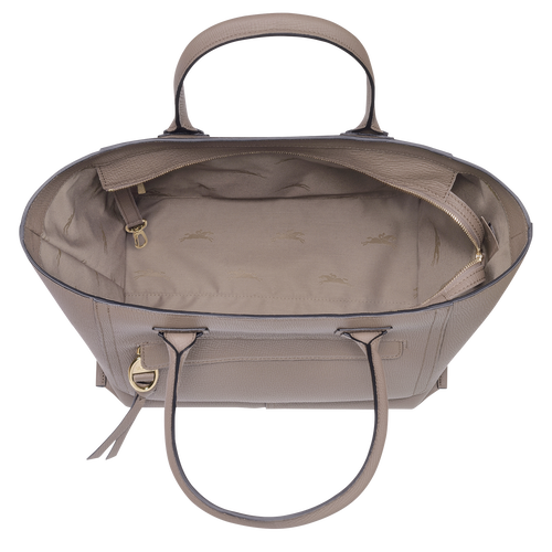 Top handle bag L, Taupe - View 4 of 4 -