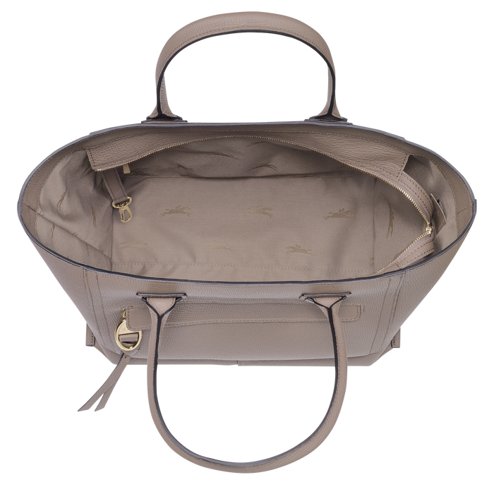 Top handle bag L, Taupe - View 4 of 4 - zoom in