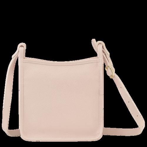 Le Foulonné Zipped crossbody bag S, Pale pink
