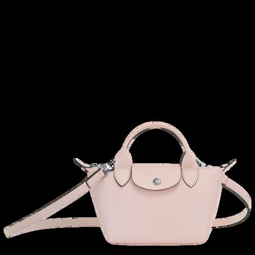 Le Pliage Cuir 手提包 XS, 淡粉紅