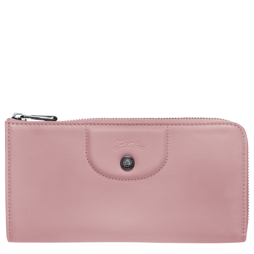 Long zip around wallet, Antique Pink, hi-res - View 1 of 2