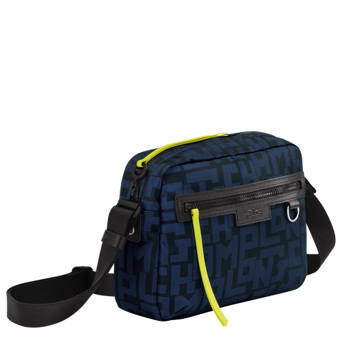 Le Pliage LGP 斜揹袋 M, 黑色/海軍藍色