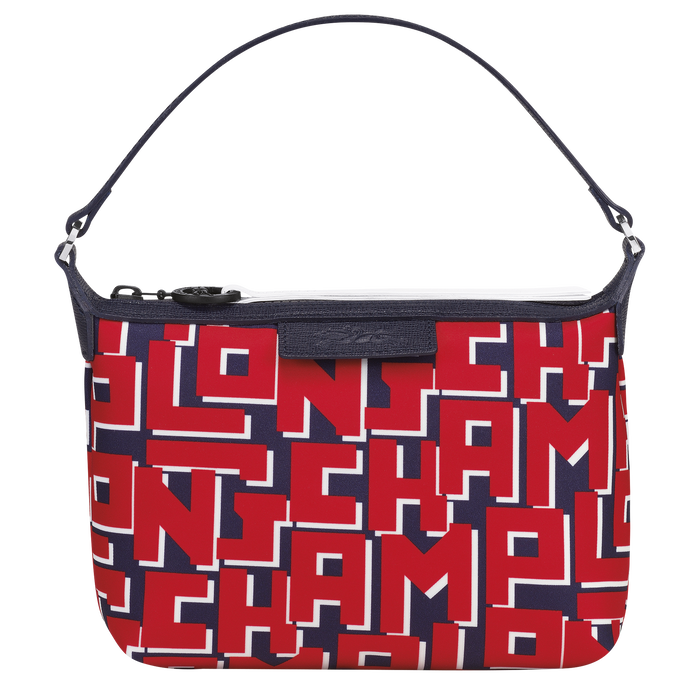 Le Pliage Collection Clutch, Navy/Red