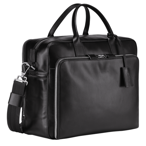 Briefcase L, Black/Ebony - View 2 of 3 -