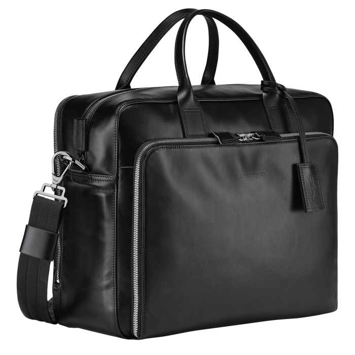 Briefcase L, Black/Ebony - View 2 of 3 - zoom in