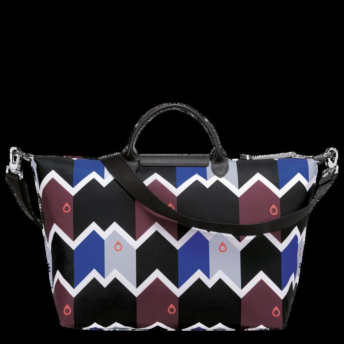 Reisetasche L, Mahagoni/Blau - Ansicht 3 von 3 - Zoom vergrößern