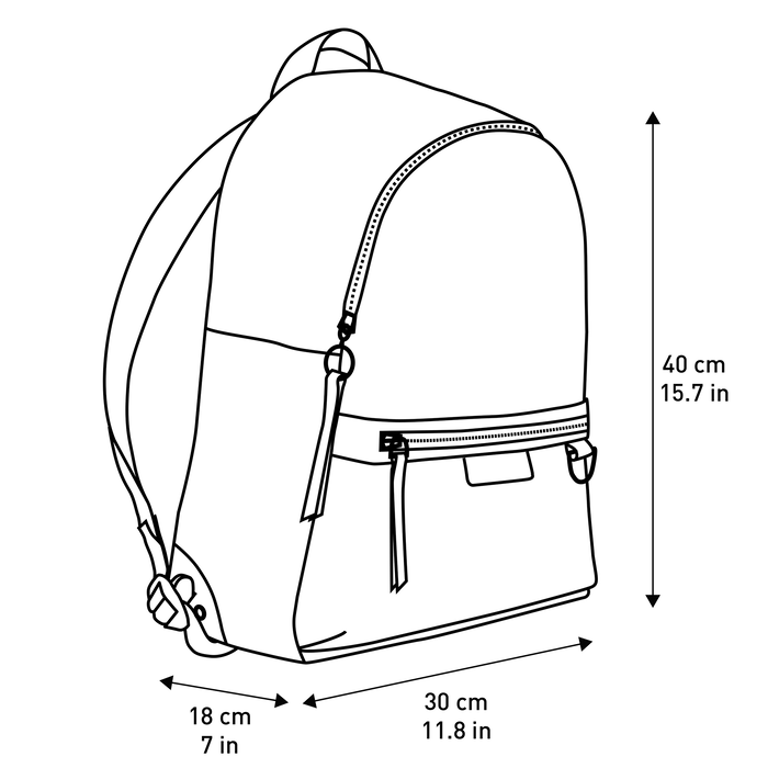 Backpack M, Navy - View 4 of  4 - zoom in