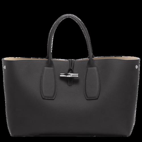 Tas met handgreep aan de bovenkant L, Zwart/Ebbenhout - Weergave 2 van  5 -