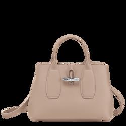 Tas met handgreep aan de bovenkant M, Zandkleurig, hi-res