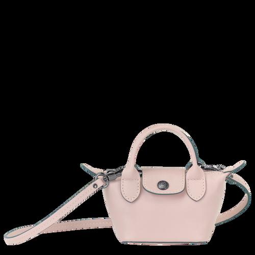 Crossbody bag XS Le Pliage Cuir Pale pink (10099757P53) | Longchamp US