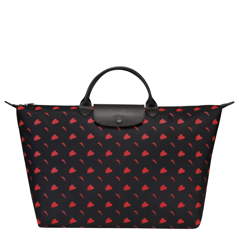 Longchamp x EU Travel bag L, Black
