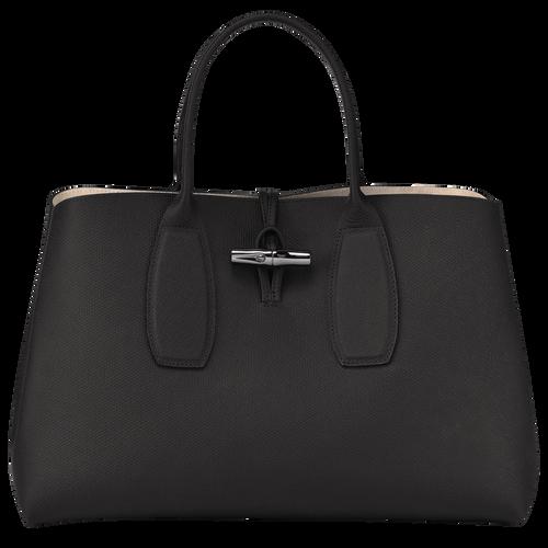 Roseau Top handle bag L, Black