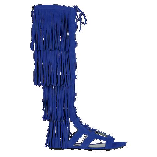 Platte sandalen, 280 Saffier, hi-res