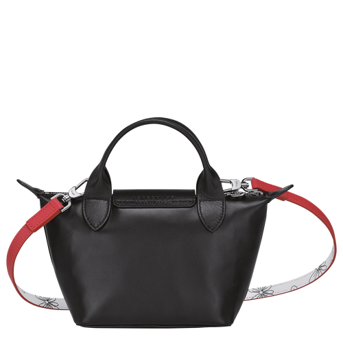 Le Pliage Cuir - Chinese New Year Edition Top handle bag XS, Black