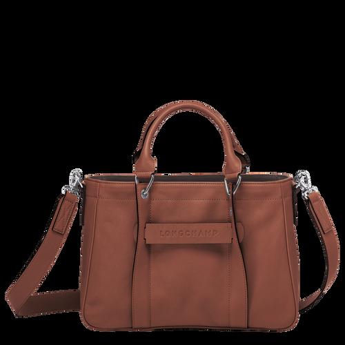 Sac porté main S Longchamp 3D Cognac (L1115772504) | Longchamp FR