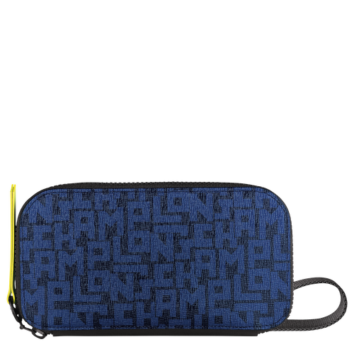 Long zip around wallet, Black/Navy, hi-res - View 1 of 2