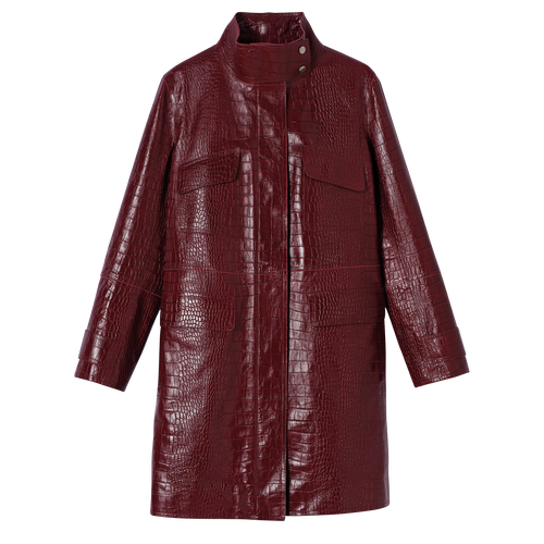 Coat, Burgundy - View 1 of  2 -