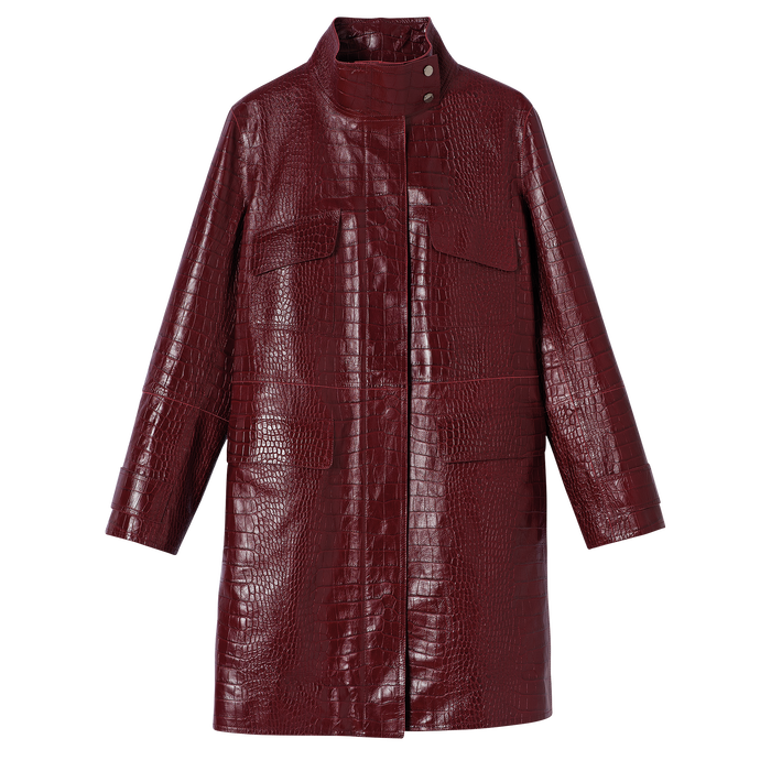 Coat, Burgundy - View 1 of  2 - zoom in