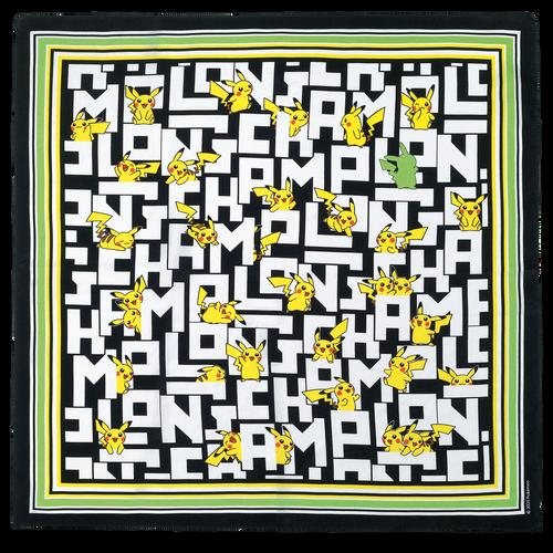 シルクスカーフ 50x50, ブラック/ホワイト - ビュー 1: 1 -