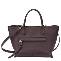Top handle bag M, Aubergine