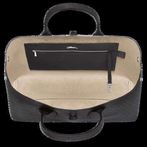 Tas met handgreep aan de bovenkant L, Zwart/Ebbenhout - Weergave 5 van  5 -