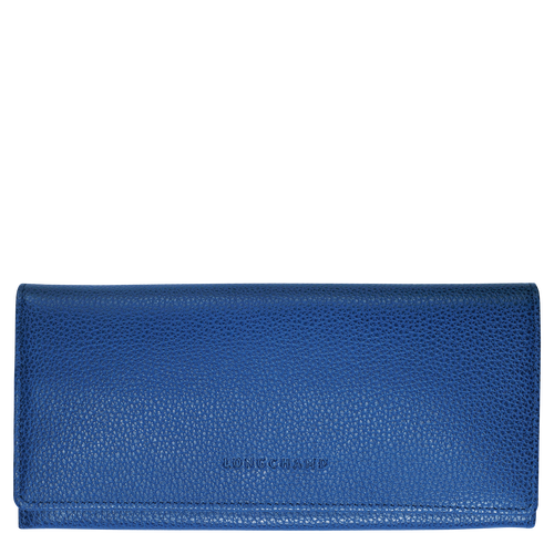Long continental wallet, Sapphire, hi-res - View 1 of 2