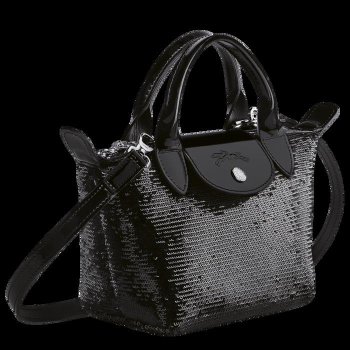 Tas met handgreep aan de bovenkant XS, Zwart/Ebbenhout - Weergave 2 van  3 - Meer inzoomen.