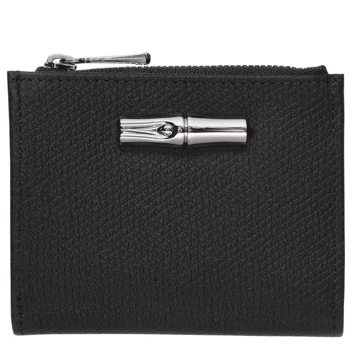 컴팩트 지갑, 블랙 / 에보니 - 1 이미지 보기 2 - 확대하기