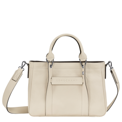 Top handle bag S, Ivory