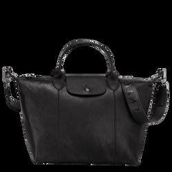 Top handle bag M, Black/Ebony