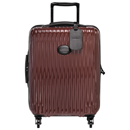 Small wheeled suitcase, Black/Red lacquer, hi-res - View 1 of 3