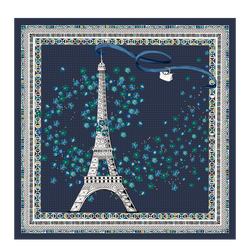 Silk Scarf, 006 Navy, hi-res