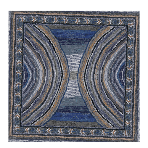 Silk scarf, Blue, hi-res - View 1 of 1