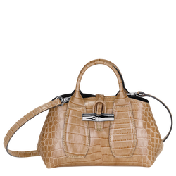 Top handle bag XS, Sand