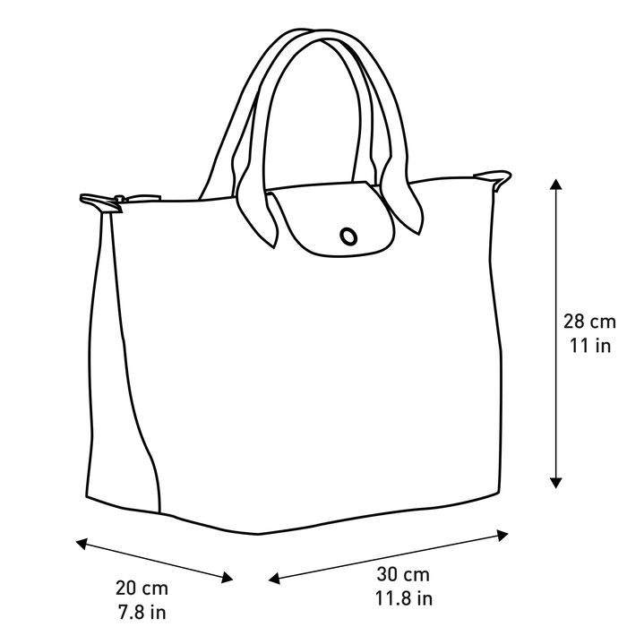Sac porté main M, Vert Longchamp - Vue 5 de 5 - agrandir le zoom