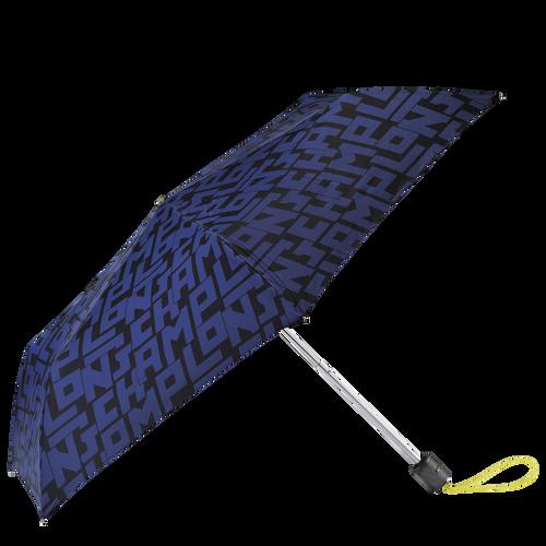 Parapluie homme Retractable umbrella, Black/Navy