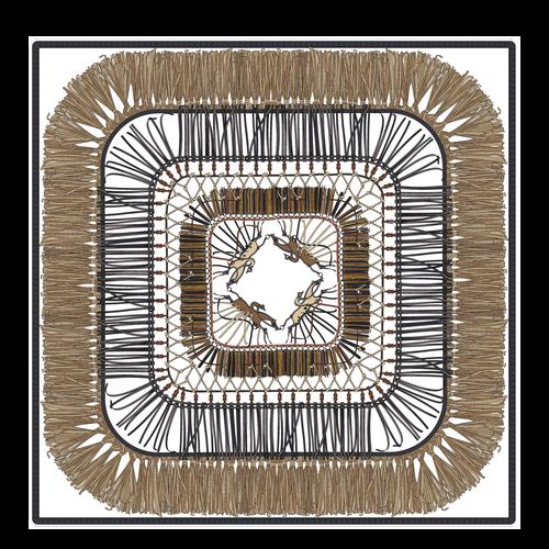 絲質圍巾, 黃褐色, hi-res - 1 的視圖 1
