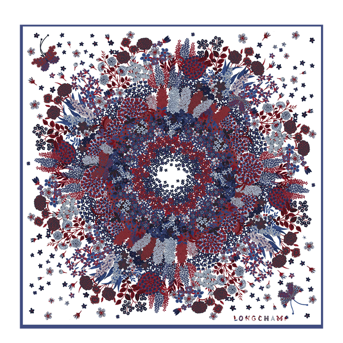 Fall-Winter 2021 Collection Silk scarf, Blue