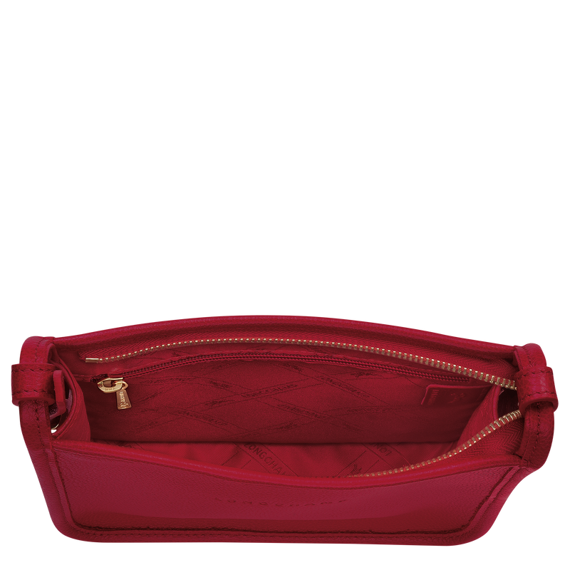 Le Foulonné Zipped crossbody bag S, Red