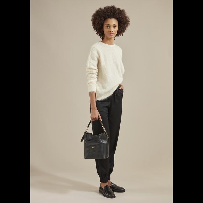 Mademoiselle Longchamp Bolso de hombro S, Burdeos