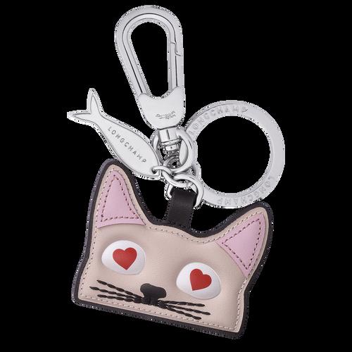 Schlüsselanhänger mit Katzen-Motiv, Blassrosa - Ansicht 1 von 1 -