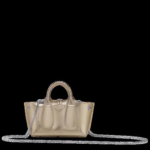 View 3 of Top handle bag S, Platinum, hi-res