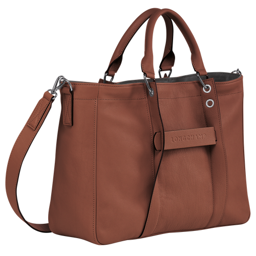 Top handle bag M, Cognac - View 2 of  3 -